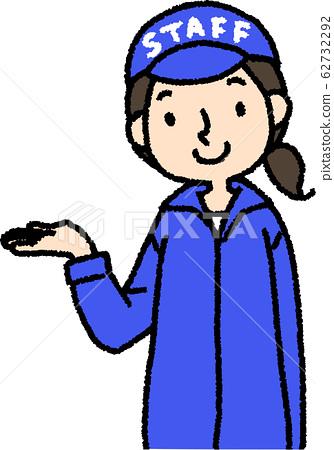 Staff woman (information) 62732292
