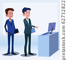 Business people talk about stock market and investment Illustration vector On cartoons style Board view background 62732822