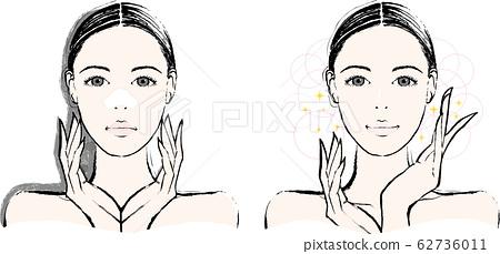 여성 코 팩 비포 애프터 62736011