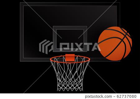 Basketball hoop and Basketball ball. 62737080