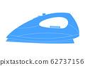 Iron icon. Blue sign 62737156
