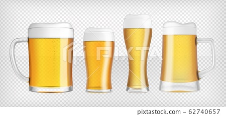 Four different lager beer glasses and mugs 62740657