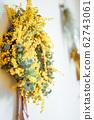Spring mimosa wreath 62743061