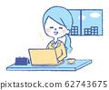 Business scene pc work woman 62743675