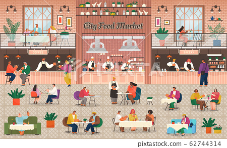 Food Court in Shopping Mall, Eating Out, Market 62744314
