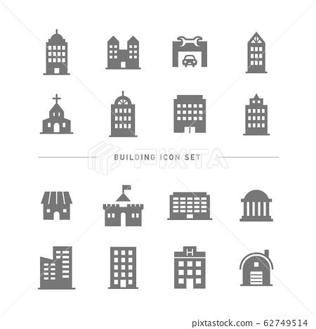 BUILDING ICON SET 62749514