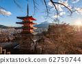 Mount Fuji as seen from the Chureito Pagoda 62750744