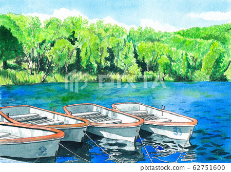 Watercolor painting Kido Pond 62751600