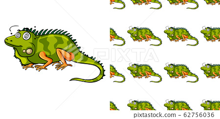 Seamless background design with green lizard 62756036