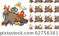 Seamless background design with sea animals 62756361