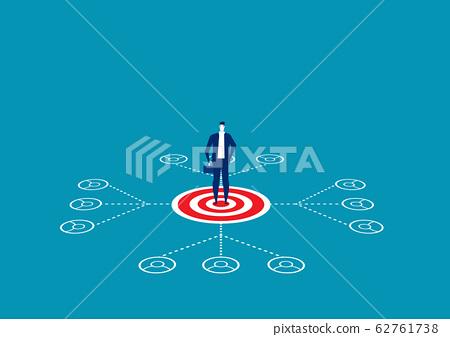 Leadership network or Multilevel Marketing Vector 62761738