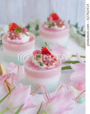 春季甜點櫻花3色果凍 62762414