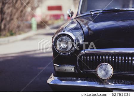 Vintage car headlights 62763835