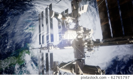 Earth and outer space station iss 62765797