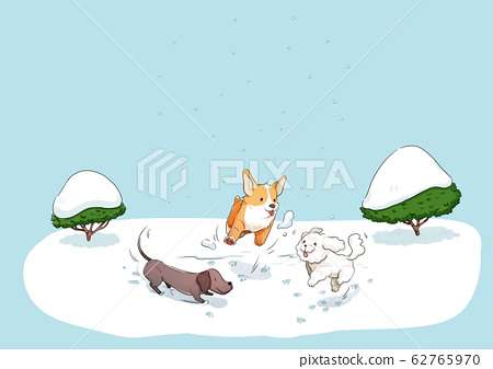 Daily life with pet in winter illustration 007 62765970