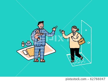 Social security in flat design, welfare benefits symbols illustration 001 62766047
