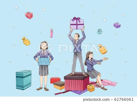 Happy graduates student. Boys and girls celebrating graduation illustration 006 62766061