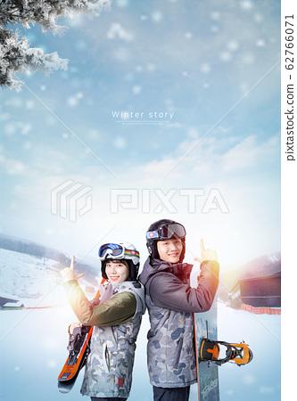 Couple enjoy in winter season 006 62766071
