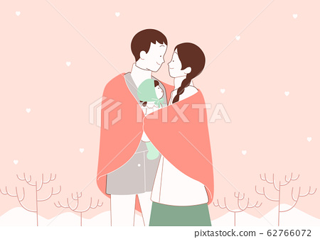 Happy time of family in winter, warm and cozy home illustration 002 62766072