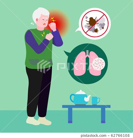 Geriatric patient, healthcare for seniors concept illustration 014 62766108