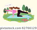 Concept of healthy life style in flat design illustration 001 62766129