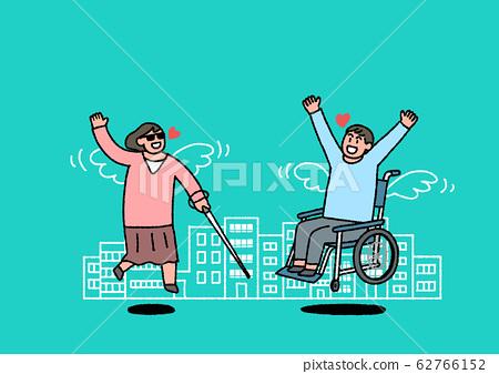 Social security in flat design, welfare benefits symbols illustration 014 62766152