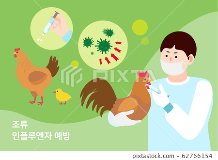 Animal diseases and pest control by viruses concept illustration 002 62766154