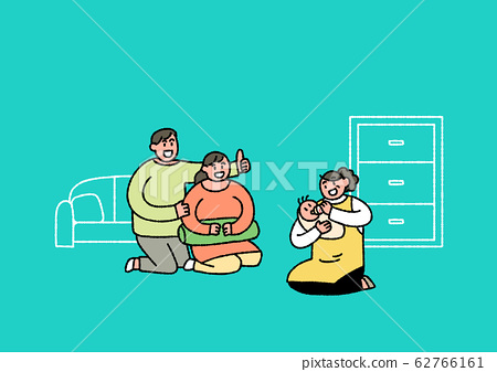 Social security in flat design, welfare benefits symbols illustration 004 62766161