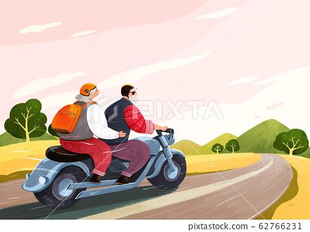 Happy senior life, healthy active lifestyle concept illustration 015 62766231