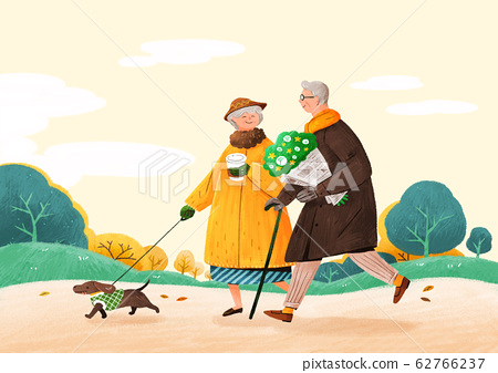 Happy senior life, healthy active lifestyle concept illustration 001 62766237