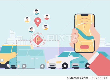 Sharing economy and smart consumption concept illustration 009 62766243