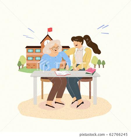 Welfare benefits concept flat design illustration 001 62766245