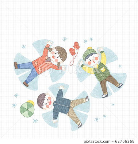 Happy time of family in winter illustration 009 62766269