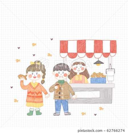 Happy time of family in winter illustration 005 62766274