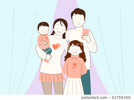 Happy time of family in winter, warm and cozy home illustration 010 62766300
