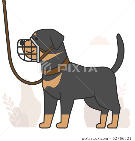Cute and lovely animals, pets icon illustration 039 62766321