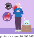 Geriatric patient, healthcare for seniors concept illustration 002 62766349