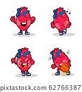 Medical character icons set cartoon style illustration 001 62766387