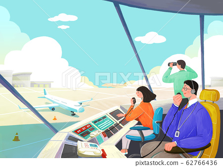 Airplane passenger service with air travel concept illustration 010 62766436