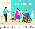 Airplane passenger service with air travel concept illustration 009 62766452