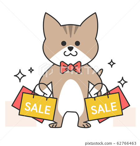 Cute and lovely animals, pets icon illustration 055 62766463
