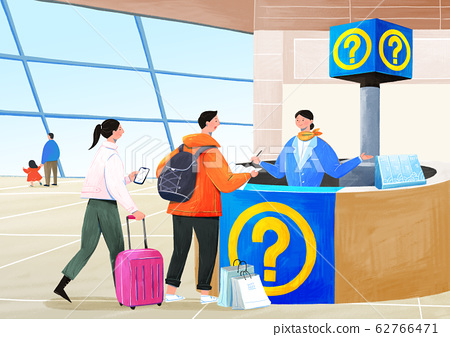 Airplane passenger service with air travel concept illustration 012 62766471