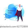 Business Hero Man Wearing Mantle, Male Superman 62772899