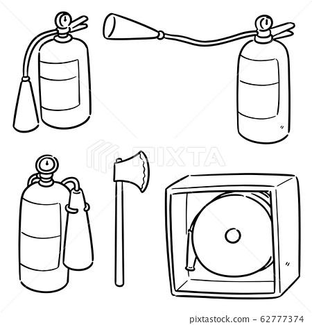 vector set of fire extinguisher 62777374