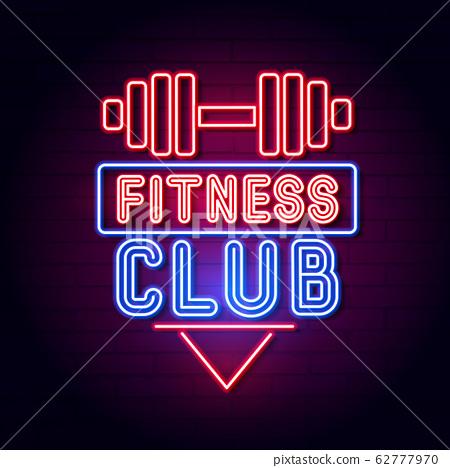 Fitness Center Gym Room. Led Neon Light Sign 62777970