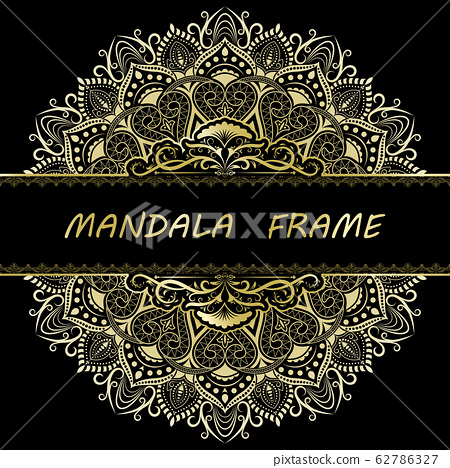 Mandala pattern design template 62786327