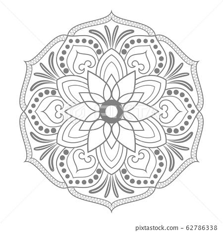 Circular pattern of mandala 62786338