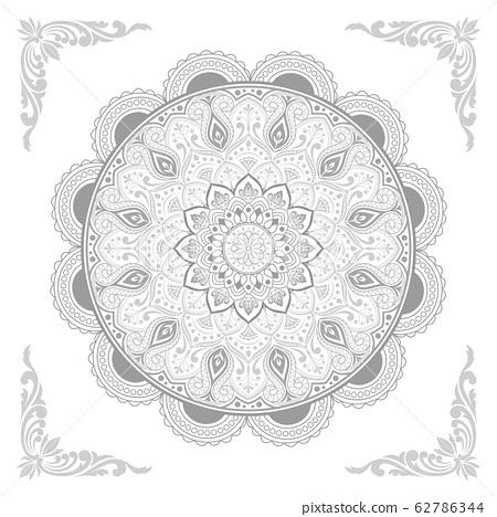 Circular pattern of mandala 62786344