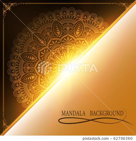mandala on detonation background 62786360
