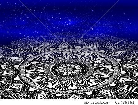 mandala on galaxy background 62786361